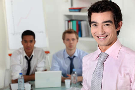 enterprising: Young business professionals in a meeting Stock Photo