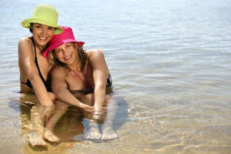 vacationers: Women bathing
