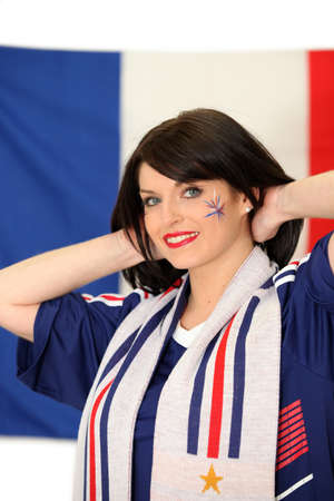 supporter: A French football supporter