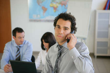 answering call: Office life Stock Photo