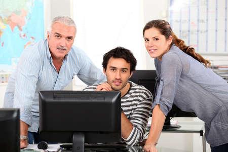 professor: IT lesson Stock Photo