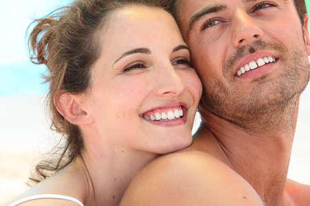 Smiling loving couple photo