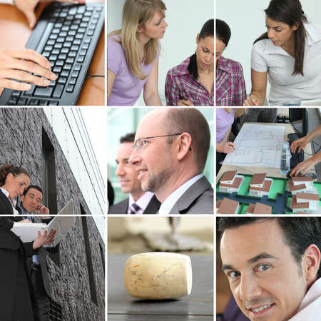 promoter: office work Stock Photo