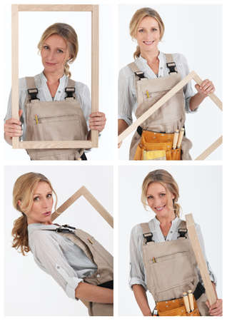 Collage of a carpenter Stock Photo - 12218466