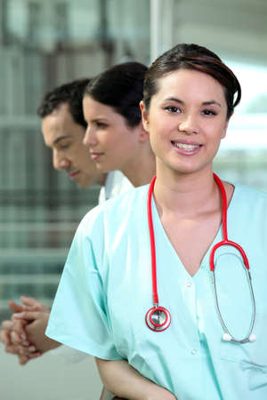 Portrait of smiling nurse photo