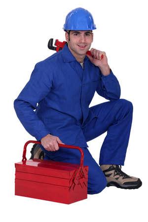 ein Handwerker posieren