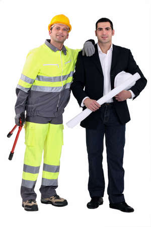 An architect and his foreman. Stock Photo - 12218908