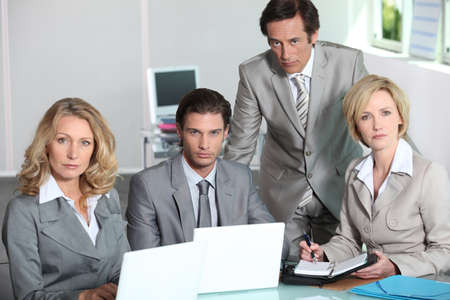 45 49 years: Serious team of executives