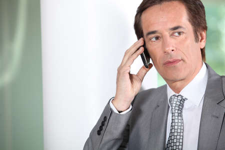 Businessman on the phone. Stock Photo - 12219705