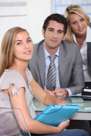 First job interview Stock Photo - 12219390