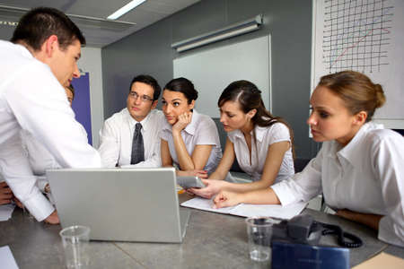human resource management: Business meeting Stock Photo