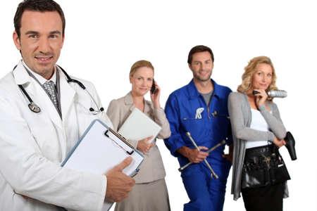 md: MD , mechanic, doctor and secretary.