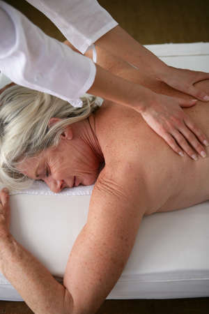 pressure massage: Woman having a massage