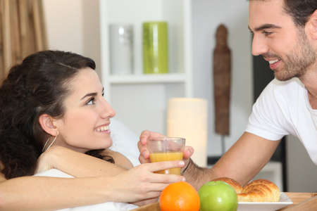 couple having breakfast Stock Photo - 12219698