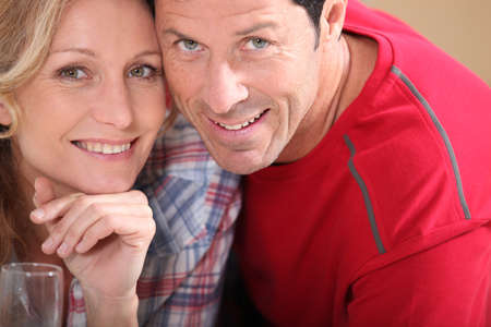 married couples: Married couple at home Stock Photo