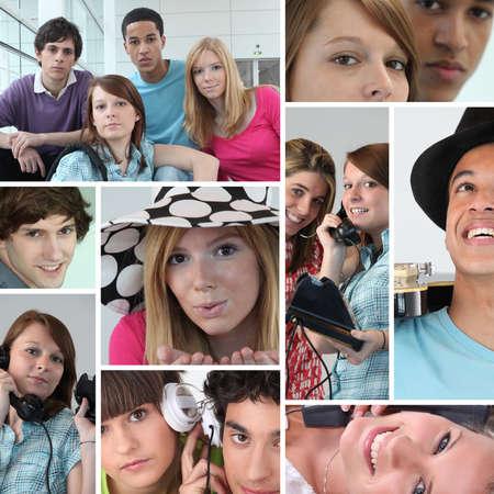 collage caras: Jóvenes