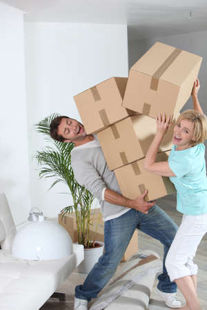 crazy couple moving out photo