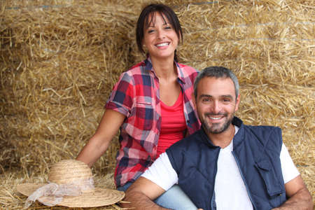 Farmer couple Stock Photo - 12219936