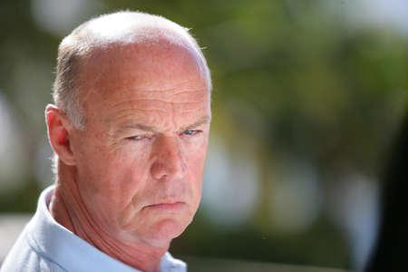 man face close up: A grumpy old man