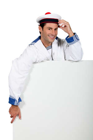 boater: sailor smiling Stock Photo