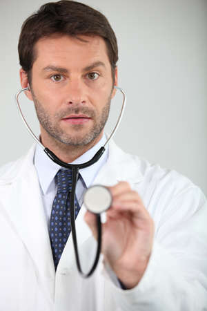 check up: portrait of a doctor Stock Photo