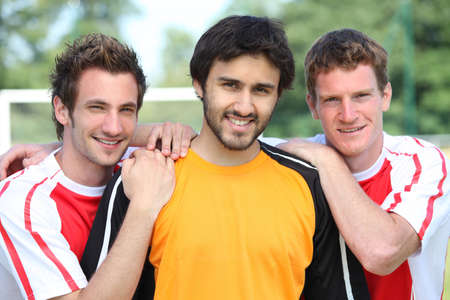 portrait of 3 football players Stock Photo - 12219760