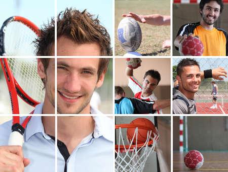 pallamano: Sport tema collage