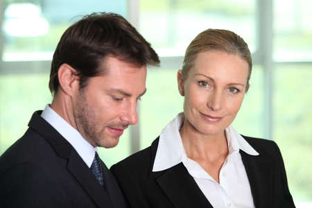 Businessman and woman photo