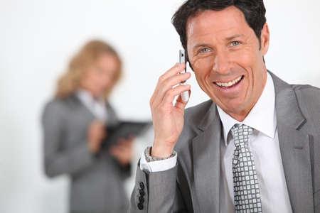 overjoyed: Portrait of an overjoyed businessman