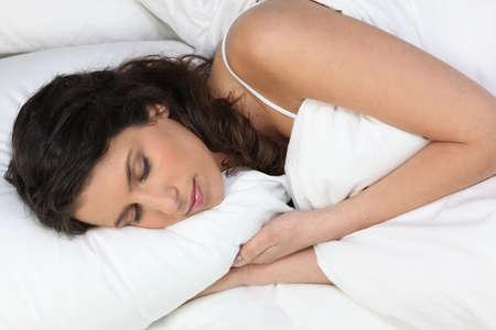 young woman sleeping photo