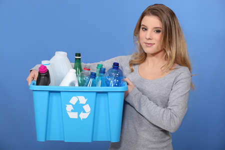 S'il vous pla�t recycler. photo