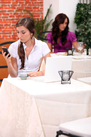 side bar: Woman waiting for her friend to arrive