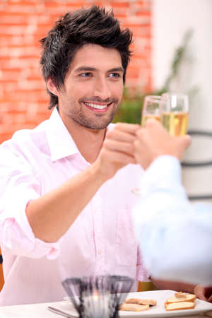 Young male dining Stock Photo - 12248258