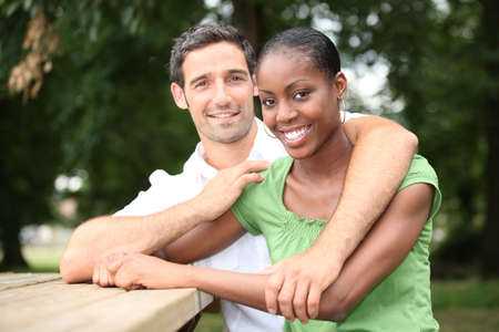 age 25 30 years: Portrait of an interracial couple