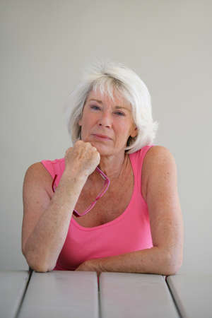 Serious older woman Stock Photo - 12246652