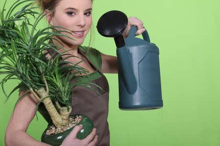 arroser plantes: Arrosage des plantes Femme