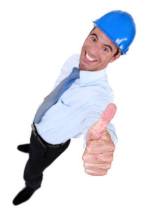 categorical: Architect giving thumbs-up Stock Photo