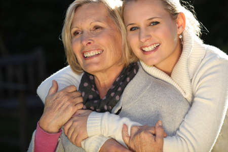 2 50: Woman with her grownup daughter
