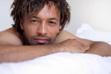 bare skinned: Portrait of a bare-skinned man