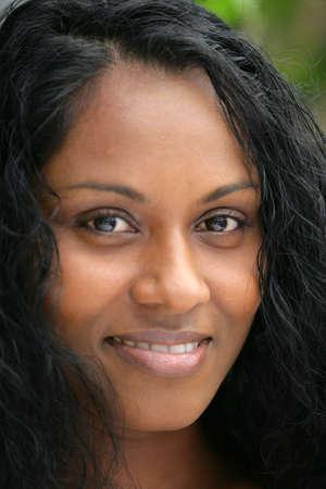 Close-up shot of a black woman