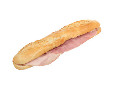 mouthwatering: Angled ham baguette