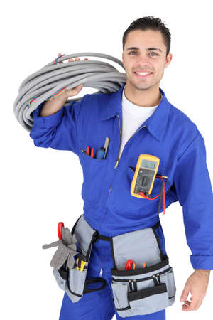electrical contractor: Handsome electrician