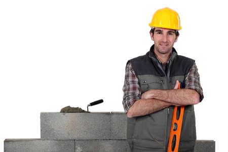 stonemasonry: Stonemason taking a break