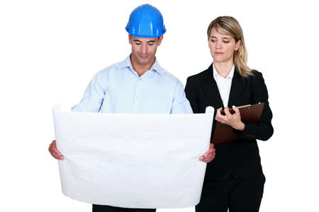 promoter: Architect and his personal assistant