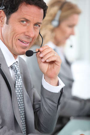 Man with headset photo