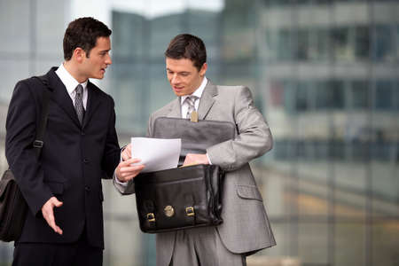 Businessmen in the city photo