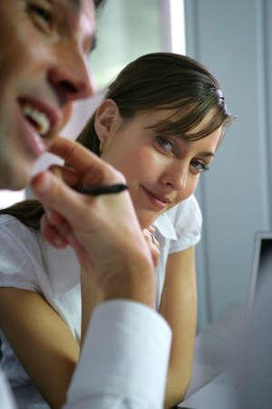 infatuation: Woman admiring her colleague