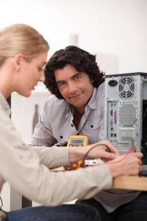 portrait of a technician photo