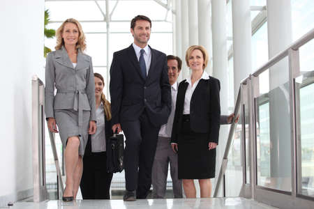diversification: Business colleagues going to meeting Stock Photo