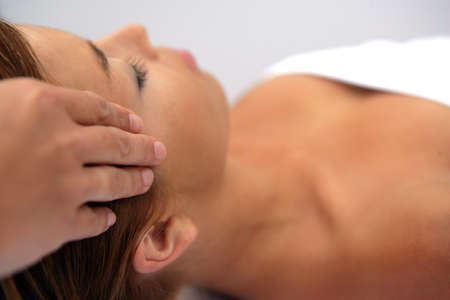 head and shoulder: Woman receiving a massage